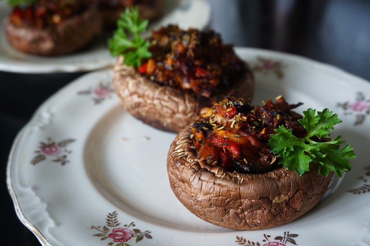 Setas al horno con ajo y perejil - Gebackene Pilze mit Knoblauch und Petersilie